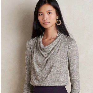 Anthropologie Deletta Cowl Neck Metallic Sweater